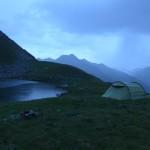 Bergsee am Abend